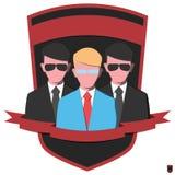 Strażnicy w czarnych kostiumach Zdjęcie Stock