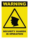 strażników operaci ochrony znaka teksta ostrzeżenie Obrazy Royalty Free