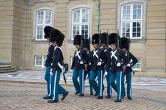 strażników target666_1_ królewski Rozwód strażnik przy Amalienborg pałac copenhagen Obraz Royalty Free