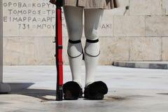 Strażnik w Ateny, Grecja obrazy stock