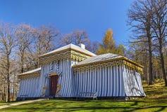 Strażnika namiot w Drottningholm, Sztokholm zdjęcia royalty free