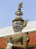 Strażowa statua - Uroczysty pałac Zdjęcia Royalty Free