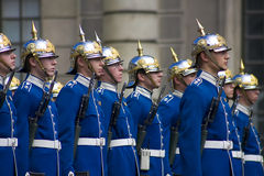 strażowy pałac Stockholm Obrazy Royalty Free