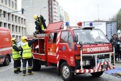 Strażacy na akci Fotografia Royalty Free
