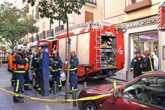 Strażacy w Madryt Zdjęcie Royalty Free