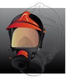 strażak maski gazowej ilustracja wektor