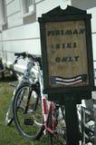 strażak roweru Zdjęcia Royalty Free