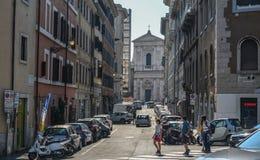 Stra?e von Rom, Italien lizenzfreie stockfotografie
