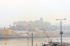 Stra?enansicht von historischem Architektur in Budapest, Ungarn lizenzfreies stockbild