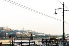 Stra?enansicht von historischem Architektur in Budapest, Ungarn stockbild