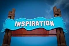 Stra?enschild zur Inspiration lizenzfreies stockbild