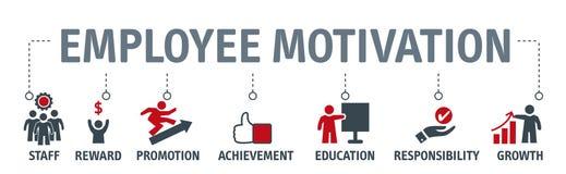 Stra för ledning för affär för anställdmotivationillustration vektor illustrationer