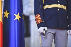 Strażnik honor podczas militarnej ceremonii Obraz Royalty Free