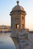 Strażowy wierza Gardjola Singlea bastion Malta Zdjęcie Royalty Free