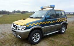 Straż wybrzeża pojazdy przy Bridlington wschodem Yorkshire Obrazy Royalty Free