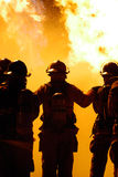 strażak praca zespołowa Zdjęcia Stock