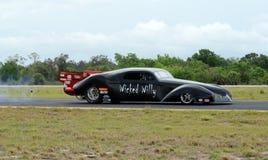Straal auto die zijn motor test Stock Afbeeldingen