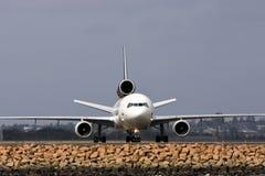 Straal lijnvliegtuig stock afbeelding