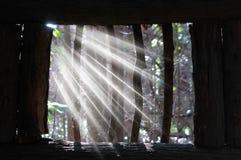 Straal van licht Stock Foto's
