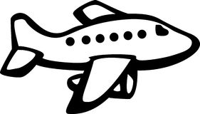 Straal vliegtuigen Royalty-vrije Stock Fotografie