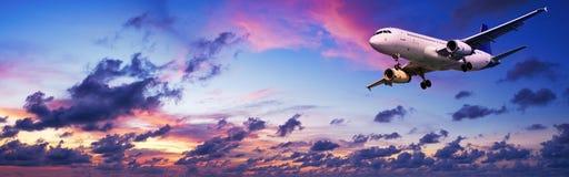 Straal vliegtuigen Stock Foto