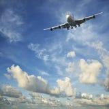 Straal vliegtuigen tijdens de vlucht Royalty-vrije Stock Foto's