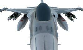 Straalf-16 isoleert op witte achtergrond Amerikaans militair vechtersvliegtuig Het leger van de V.S. Stock Fotografie
