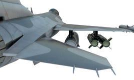 Straalf-16 isoleert op witte achtergrond Amerikaans militair vechtersvliegtuig Het leger van de V.S. Stock Foto's