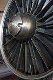 Straalmotoropname met in de war gebrachte en roterende staalstructuur stock afbeelding