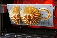 Straalturbinepropeller - ventilator, het 3D gedrukte maken royalty-vrije stock fotografie