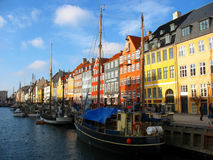 Straat 2 van Nyhavn Stock Foto's