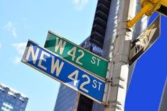 straat 42 - het teken van het Times Square Stock Afbeeldingen