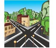 straat vector illustratie