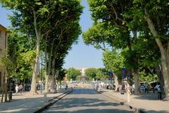 Straat in Aix-en-Provence, Frankrijk stock foto's