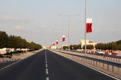 Straat in Al Khor, Qatar royalty-vrije stock foto