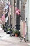 Straat in Alexandrië, Virginia Stock Foto's