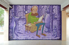 Straat Art Cartoon Stock Afbeelding