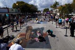 Straat Art Festival in Meer met een waarde van Florida Royalty-vrije Stock Foto's