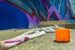 Straat Art Materials Stock Afbeeldingen
