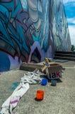 Straat Art Materials Royalty-vrije Stock Foto