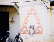 Straat Art Mural in Georgetown Royalty-vrije Stock Fotografie