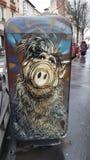 Straat Art Vincennes Alf Stock Afbeelding