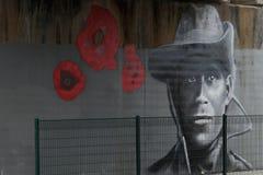 Straat Art Wall Mural Stock Fotografie