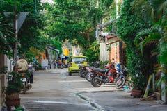 Straat in Azië Royalty-vrije Stock Afbeeldingen