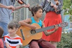 Straat-band die bij het festival van Gent presteren Royalty-vrije Stock Fotografie