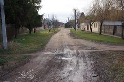 Straat in Becej, Servië Royalty-vrije Stock Afbeelding
