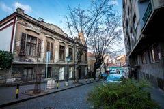 Straat in Belgrado Stock Afbeeldingen