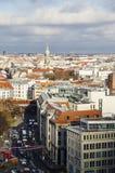 Straat in Berlijn Royalty-vrije Stock Afbeeldingen