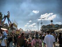 Straat bij Festival Oktoberfest (HDR) Royalty-vrije Stock Foto