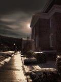 Straat bij nacht Royalty-vrije Stock Afbeeldingen